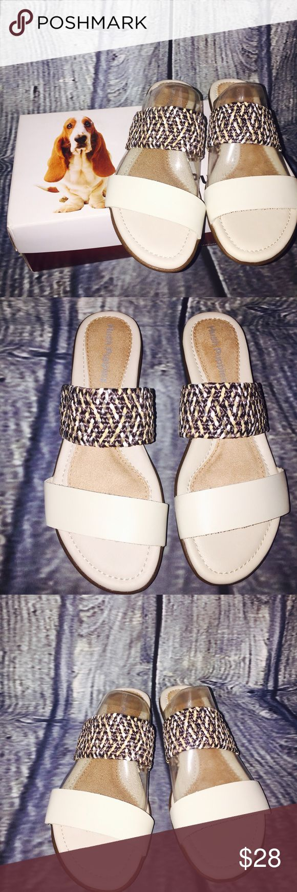 💥SALE💥Hush Puppies Slide Off White Leather Sz 6 Hush Puppies Nishi Slide 6 Dress Sandal Off White Leather Woven Medium B Shoes  Type: Dress Sandal Shoes Brand: Hush Puppies  Model: Nishi Slide Size: 6 Style: Slides Color: Off White  Material: Leather Width: Medium B,M Heel Height: Low 3/4 in. to 1 1/2 in. Features: Woven   Condition: New in box Hush Puppies Shoes Sandals