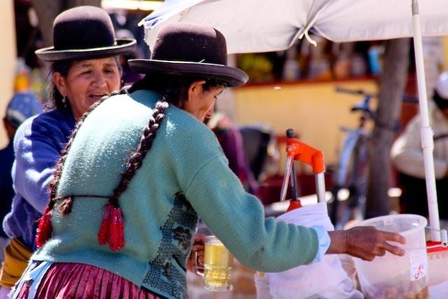 Ladies in the market - Villazon, Bolivia