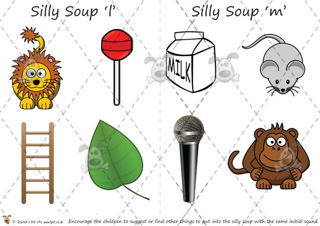 Teacher's Pet - Phase 1 'Silly Soup' Alliteration Game - Premium Printable Game / Activity - EYFS, KS1, KS2, letters, sounds, alliteration, ...