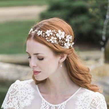 золото волосы цветок гирлянды