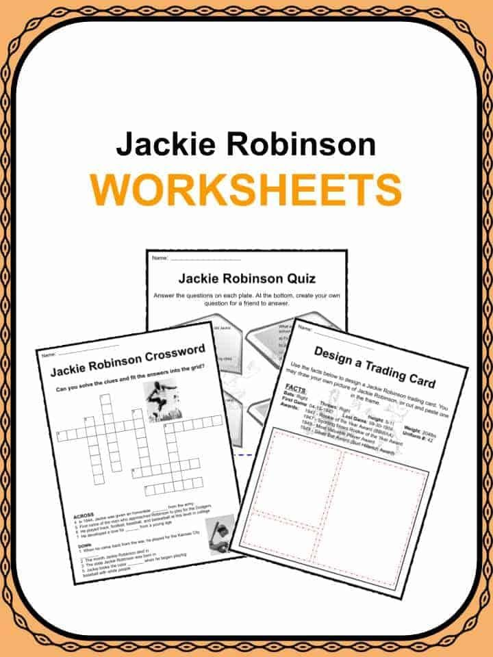 Jackie Robinson Facts Worksheets In 2020 Jackie Robinson Facts