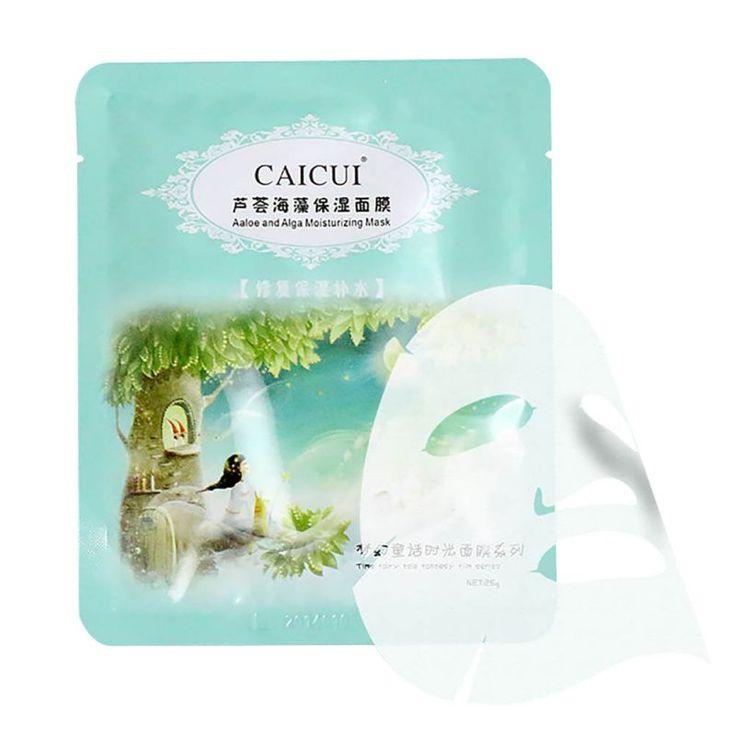 Gezichtsverzorging Whitening Masker Natuurlijke Aloë Alg Anti-leeftijd Hydrateren Collageen Masker LG36 JL46 TF