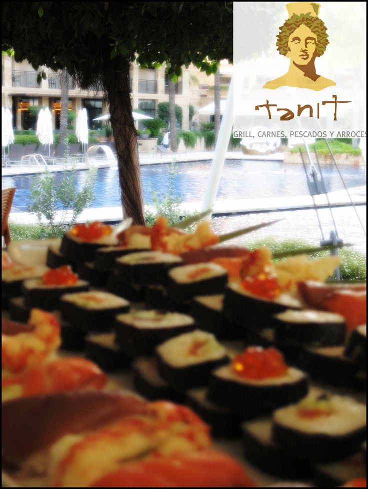 Buffet Lunch Sushi.. Something different for your guests. #MICEIbiza