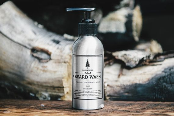 BEARD WASH: Natural Beard Wash Beard Shampoo by LONEWOODS on Etsy
