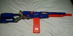 NERF Longstrike CS-6 N-Strike Gun VHTF Variation Blue Sniper Rifle LongShot in Toys & Hobbies | eBay