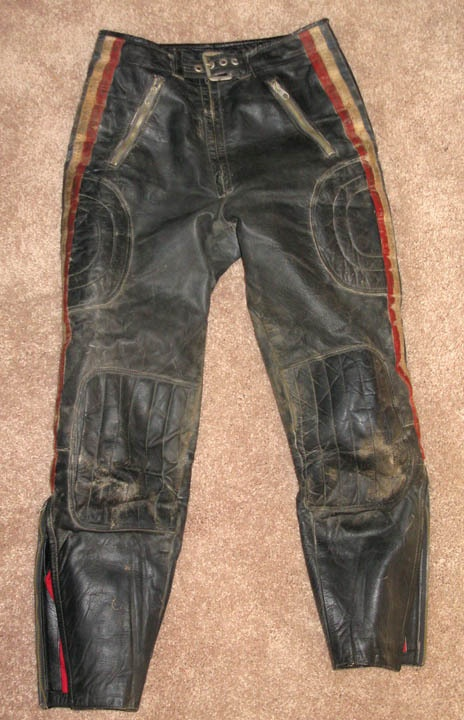 1960s 1970s Vintage Leather Racing Pants Mx Desert