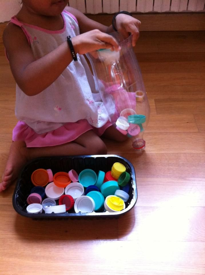 Bottle caps toy for toddlers: