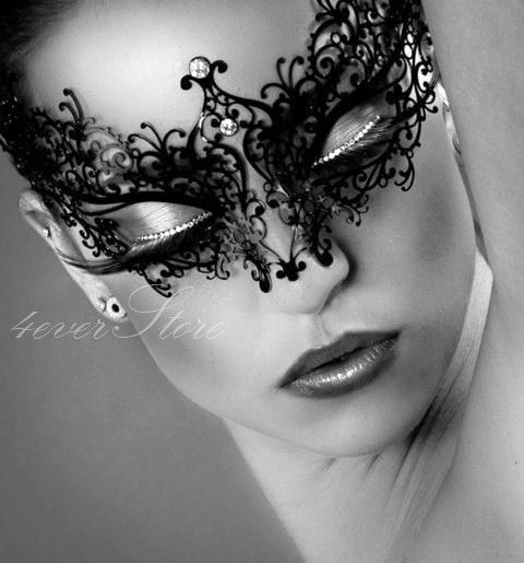 Masquerade Mask - Classic Black Handcrafted Masquera @ 4everstore on Etsy