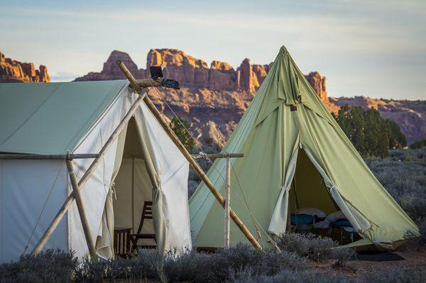 Teepee Tents Luxury Campground Utah –Glam Camping Utah –Utah Camping