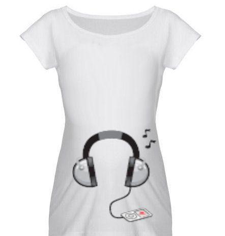 maglia simpatica donna incinta musica