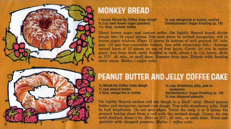 Monkey Bread and Peanut Butter and Jelly Coffee Cake