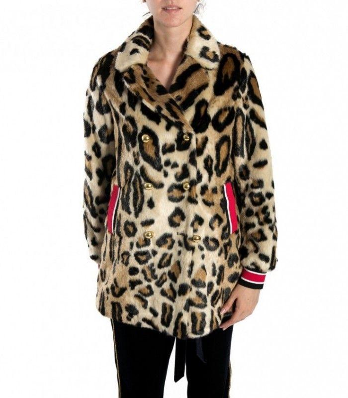 PINKO Animal pattern faux fur jacket  Delta 1G12NJ
