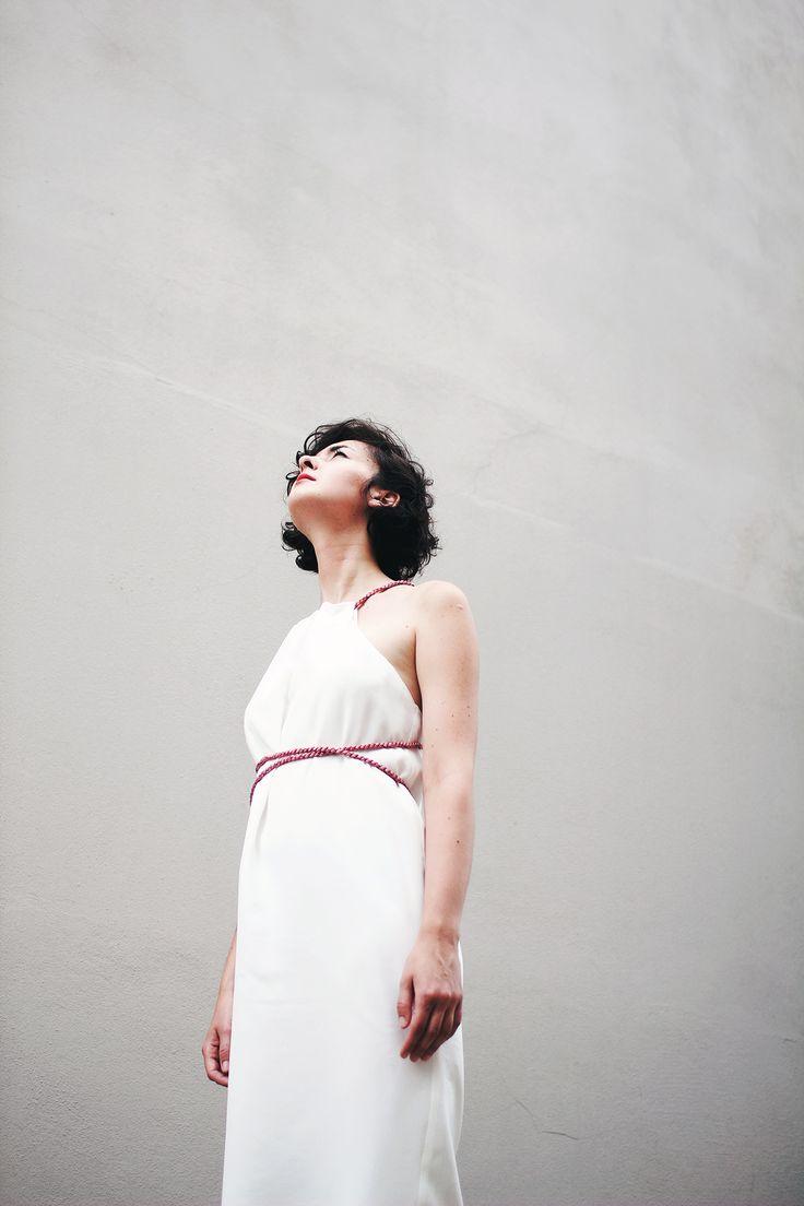 "white silk dress - "" Last swallows""/ ""Poslední vlaštovky"" Summer coll."
