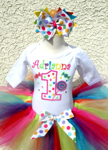 Candy Land Party Birthday Tutu Outfit