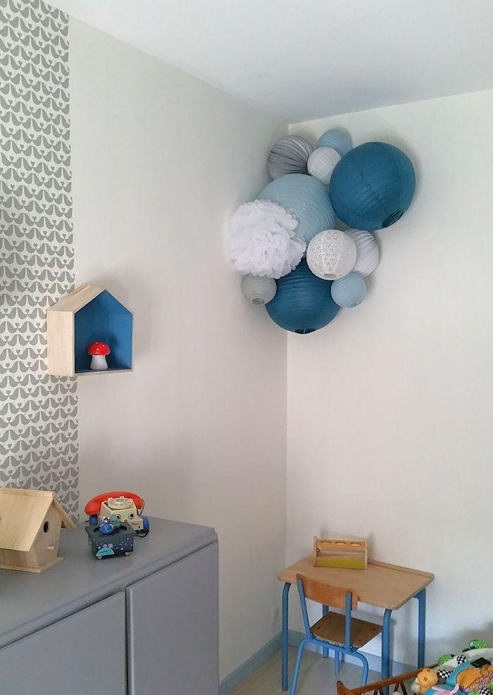 decoration chambre de garçon lampions