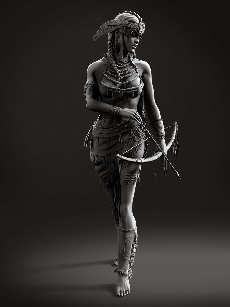 ArtStation - Lakhota Warrior, Ernest Nemirovskiy