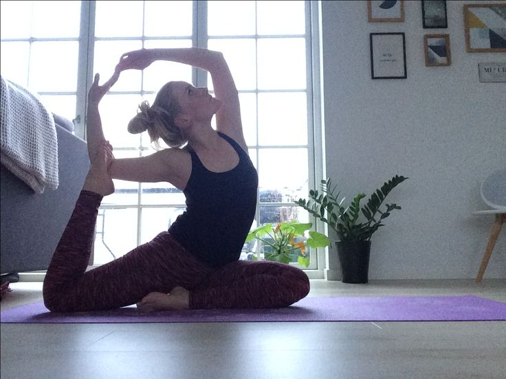 Mermaid pose  Yoga practice at home Balance and strength is the key