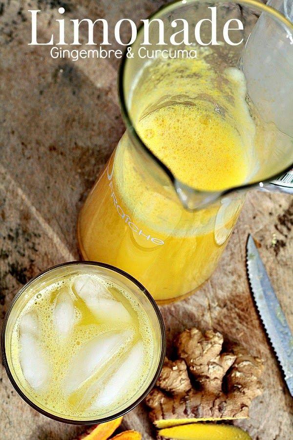 Les Cuisines de Garance: limonade Gingembre , Curcuma & Citron pour le plein de bonheur ! - drinks
