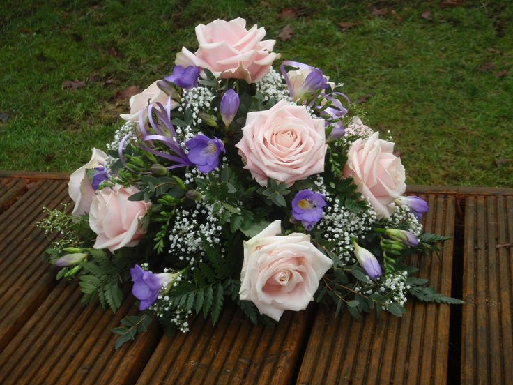 large pink rose and lilac posy