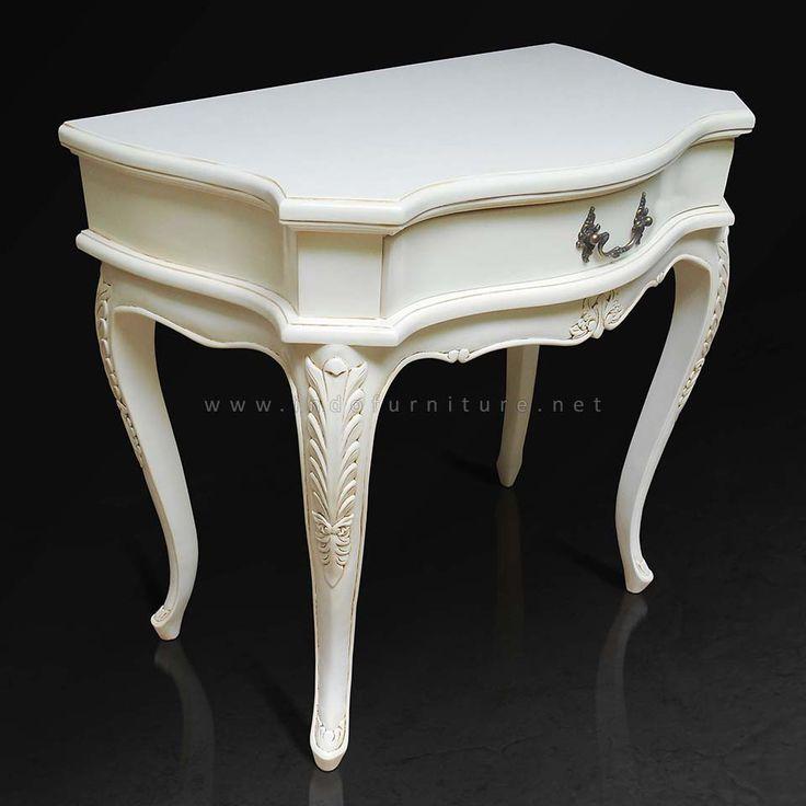 Meja konsul Klasik Putih Gading   Indo Furniture