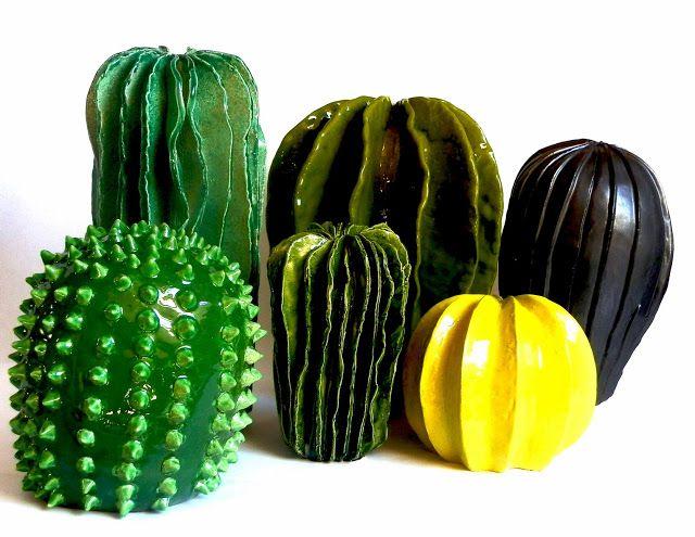 Lina Cofán's ceramic cacti.