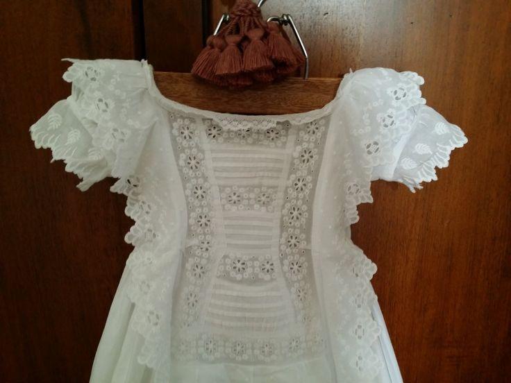 "Vestitino da battesimo vittoriano ""Sangallo"" - vestitini battesimo - La biancheria d'epoca"