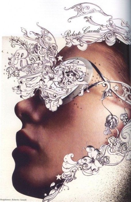 """""""Through the looking glass"""" editorial for Lula magazine: Jo Ratcliffe's illustrations embellish sunglasses"""