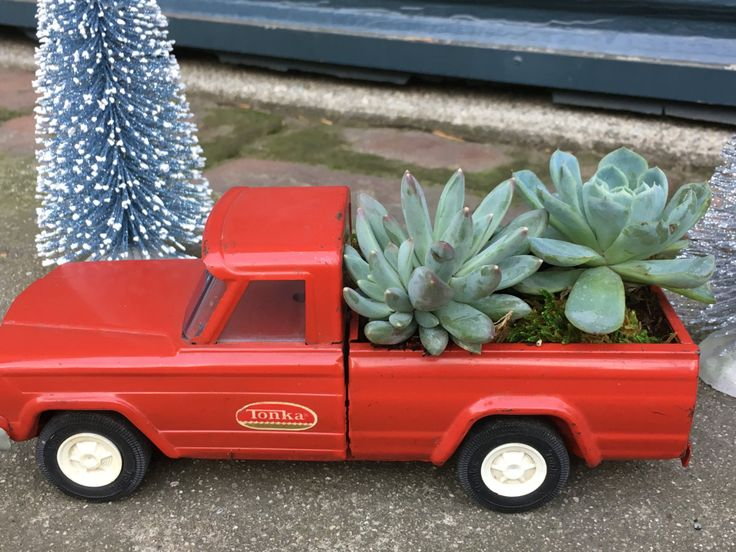 Vintage Red Tonka Pickup Truck Succulent Planter by EdenCondensed on Etsy