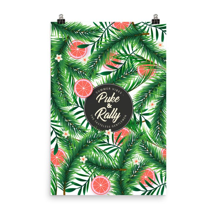 Puke & Rally Floral Poster