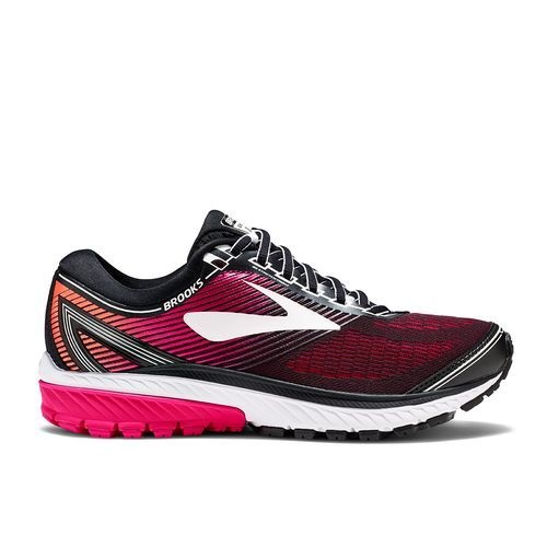 Brooks Women's Ghost 10 Wide Running Shoes (Black/Bright Pink/White, Size 9.5) - Women's Running Shoes at Academy Sports