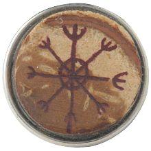 pennan - De pennan werd door de oude Vikingen gezien als liefdes- en gelukssymbool. Zij geloofden dat wanneer de maan drie nachten oud was en zij dit symbool in versteend hout kerfden, al hun dromen zouden uitkomen.