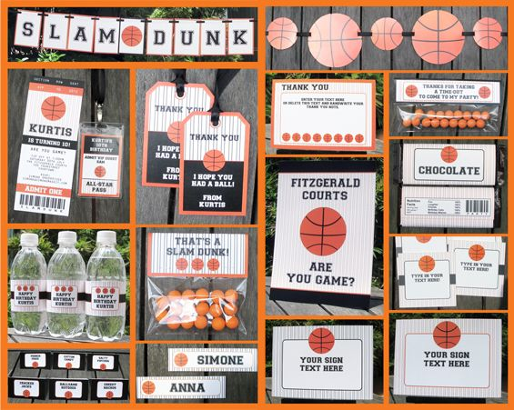 Basketball party printables
