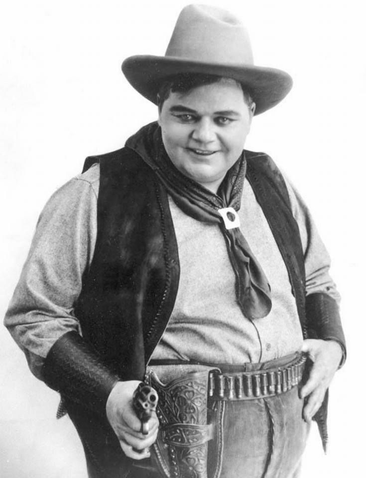 "Remembering Roscoe ""Fatty"" Arbuckle who died on June 29, 1933 aged 46 RIP Photo: For The Round-Up (1920"