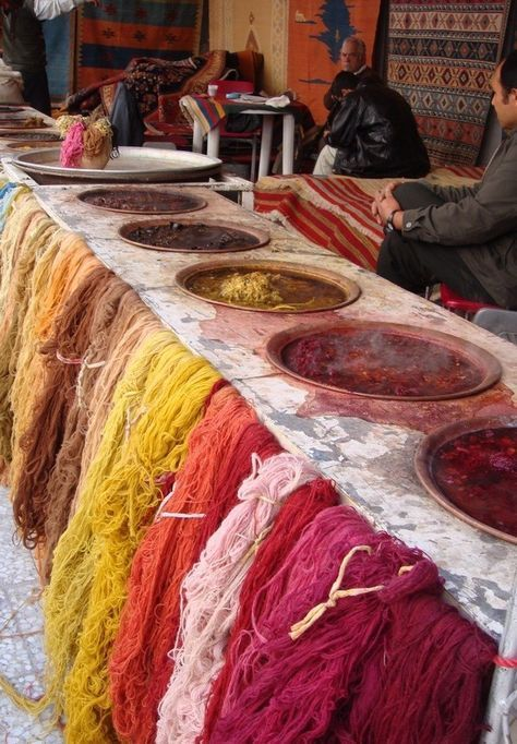 Dying of wool for rugs ,Iran