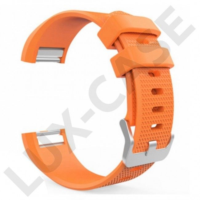 Fitbit Charge 2 silikonreim med metallspenne - Oransj