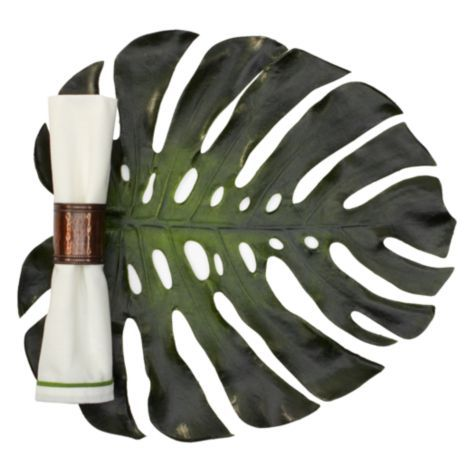 Monstera Leaf Placemats - Set of 4 from Z Gallerie--nice for outdoors/luau party/etc