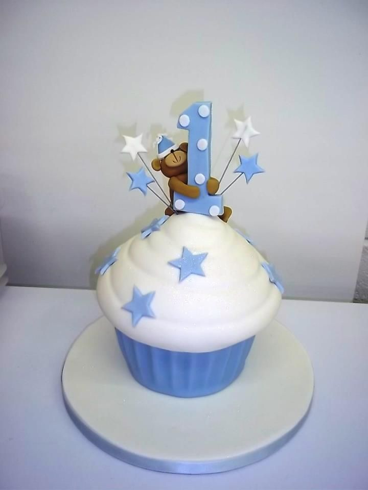 birthday cakes for first birthday boys | giant cupcake, birthday cakes, 1st birthday cakes, truly scrumptious