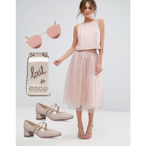 A fashion look from April 2017 featuring Little Mistress skirts, Nine West pumps and Chanel handbags. Browse and shop related looks.