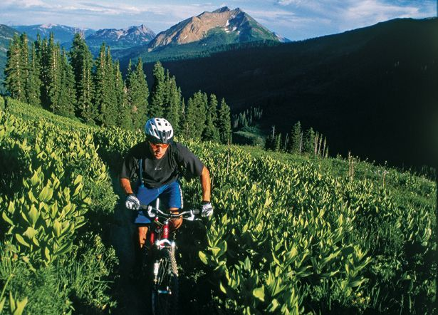 Out on the trails surrounding Crested Butte, Colorado
