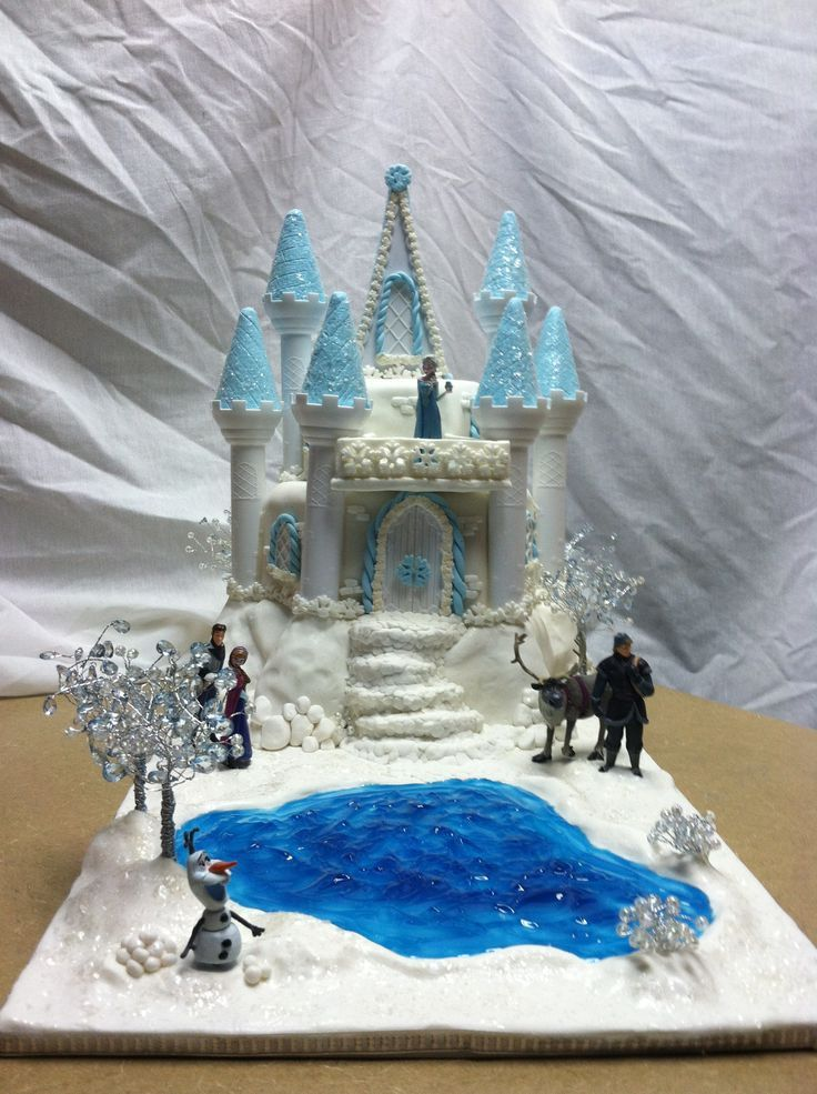 Frozen castle cake 2