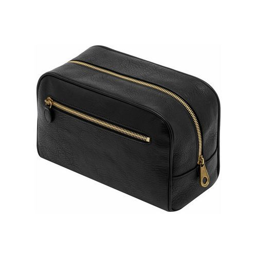 Wash Case in Black Natural Leather | Men's | Mulberry