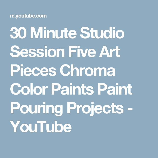 30 minute studio session five art pieces chroma color for Chroma acrylic mural paint
