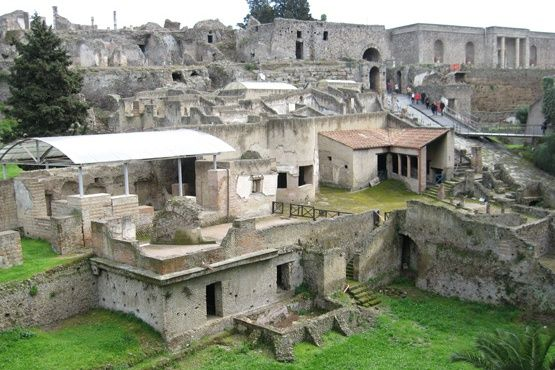 Pompeii was located near Italy's largest port, Pozzuoli, and Pompeian merchants took advantage of this proximity to set up successful businesses and trade routes, particularly with Greece. The considerable wealth they brought home spurred a building boom in Pompeii in the second century BC, and the cultural influence of Greek art and architecture on the villas these wealthy merchants built is obvious.
