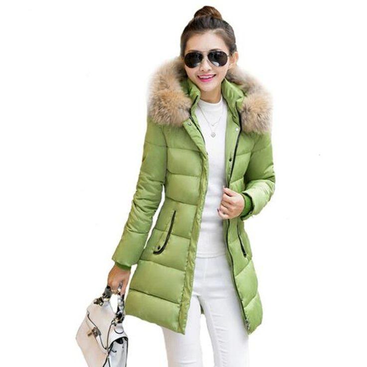 Wadded Cotton Jacket Women's Winter Jackets Coats Military Coats Fur Collar Casacos Ukraine Plus Size Jacket Parkas Mujer FC2271