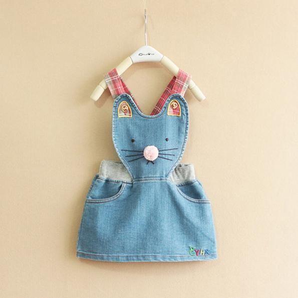 100 140CM Дети девушки одеваются Denim Blue Прекрасный Hello Kitty (CAT) Cartoon детей Девочки Наряжают Летние Baby Платья Бесплатная доставка, принадлежащий категории Одежда и аксессуары и относящийся к на сайте AliExpress.com | Alibaba Group