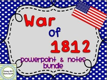 This PowerPoint and note bundle reviews the War of 1812. Students will learn about the War Hawks, the Battle of Tippecanoe, how the war began, the Battle of Lake Champlain, the burning of the White House and Capitol, the Treaty of Ghent, and the Monroe Doctrine!