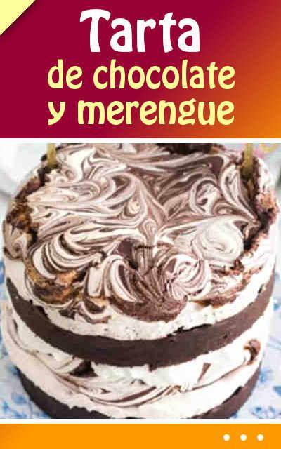 #Tarta de #chocolate y #merengue