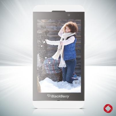 White BlackBerry Z10 #RogersWinterWhites