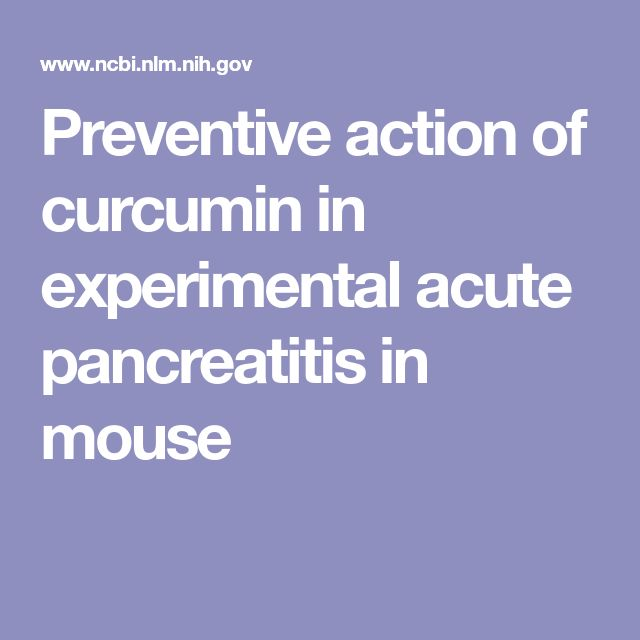 Preventive action of curcumin in experimental acute pancreatitis in mouse