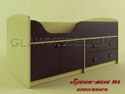 Детская кроватка Приют–мини М4 - Небольшая детская кровать чердак для маленьких детей возрастом от 2-3 лет. Приют-Мини 007 м4 - Перезагрузка...